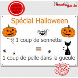 """Plaque humour """"Spécial Halloween"""" 24 cm OBI"""