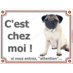 """Carlin Assis, plaque portail """"Attention, C'est Chez Moi !"""" 3 tailles LUX C"""
