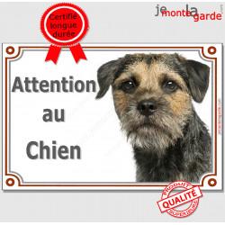"""Border Terrier, plaque portail """"Attention au Chien"""" pancarte panneau photo"""