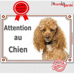 """Caniche, plaque portail """"Attention au Chien"""" 24 cm LUXE C"""