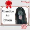 """Afghan, plaque portail """"Attention au Chien"""" 24 cm LUXE C"""