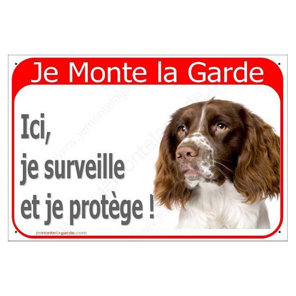 Springer Tête, Plaque Portail Je Monte la Garde, surveille protège, pancarte, affiche panneau