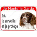 "Springer Tête, plaque rouge ""Je Monte la Garde"" 24 cm RED"