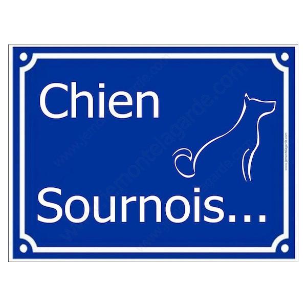 Attention au Chien Sournois...  Plaque bleu portail humour marrant drôle panneau affiche pancarte