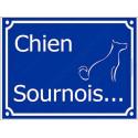 Plaque Portail 4 tailles FUN Attention Chien Sournois...