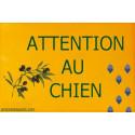"""Plaque portail """"Attention au Chien"""", Provence 24 cm OBI"""