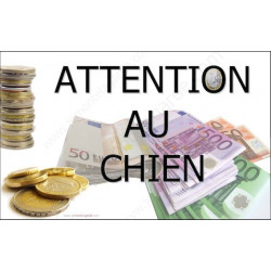 Plaque 20 cm OBI, Attention au Chien, Millionnaire