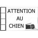 Plaque 20 cm OBI, Attention au Chien, Cinéma