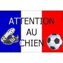 Plaque 20 cm OBI, Attention au Chien, Football France
