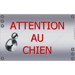 Plaque 20 cm OBI, Attention au Chien, Mécanique