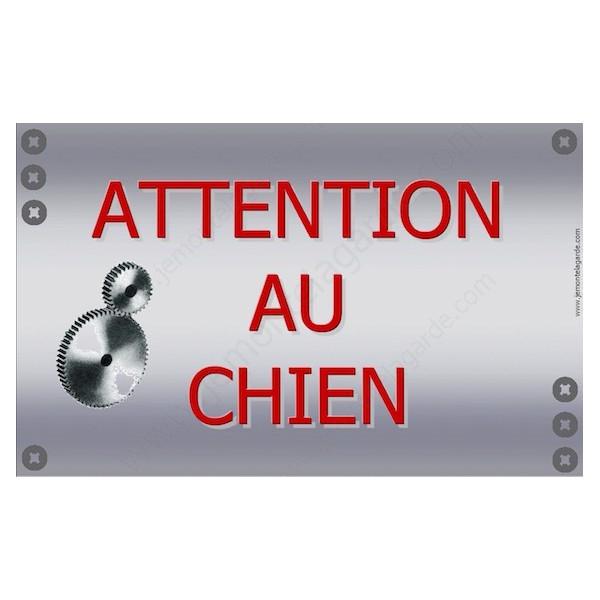 Mécanique, Plaque Portail Attention au Chien, pancarte, affiche panneau