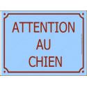 """Plaque Portail """"Attention au Chien"""" Rue Bleu Ciel Azur 4 tailles"""