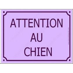 Plaque Portail 4 tailles CLR Attention au Chien Rue Mauve Lavande