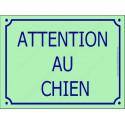 """Plaque portail """"Attention au Chien"""" Pistache Vert Clair 3 tailles CLR C"""
