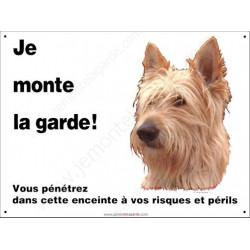 """Berger Picard, plaque """"Je Monte la Garde"""" 2 tailles ECO C"""