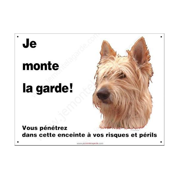"""Berger Picard, plaque portail """"Je Monte la Garde, risques et périls"""" photo pas cher discount pancarte panneau"""