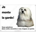 "Bichon Havanais, plaque ""Je Monte la Garde"" 26,5 cm ECO"