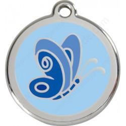Les Médailles Identité Papillon Bleu Ciel