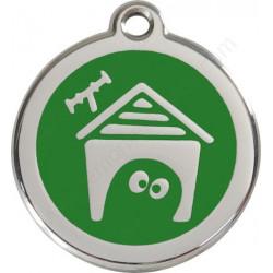 Médailles Identité Niche Vert pour chiens et chats