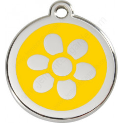 Médailles Identité Fleur Jaune Soleil chiens et chats