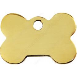 Médaille Identité dorée Os Laiton chiens et chats